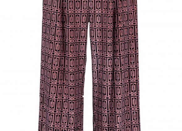 Pantalone Pinces Stampa Geom Velvet Anonyme Designers