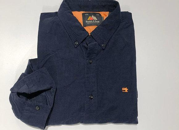 Camicia uomo velluto mille righe blu Scotch&Soda