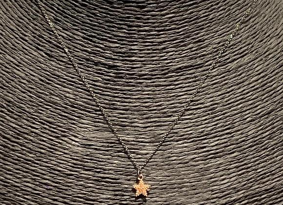 Collana argento placcato oro ciondolo mini stella
