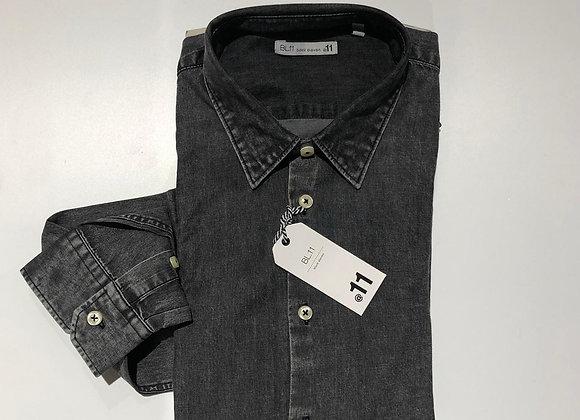 Camicia uomo denim nero BL.11