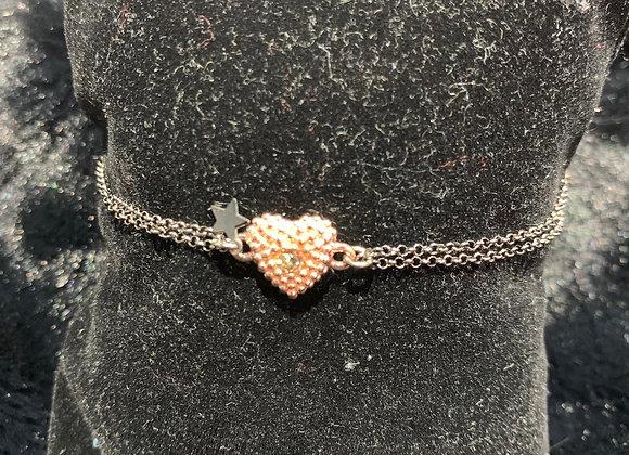 Bracciale argento placcato oro cuore Versari Accessories