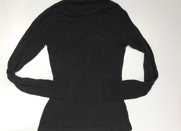 Girocollo lana viscosa nero Neirami
