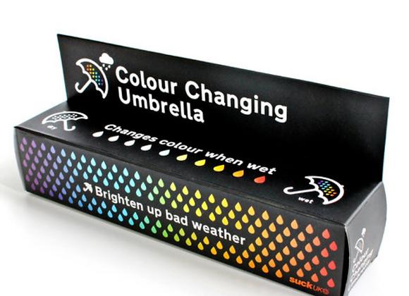 Ombrello pieghevole che cambia colore