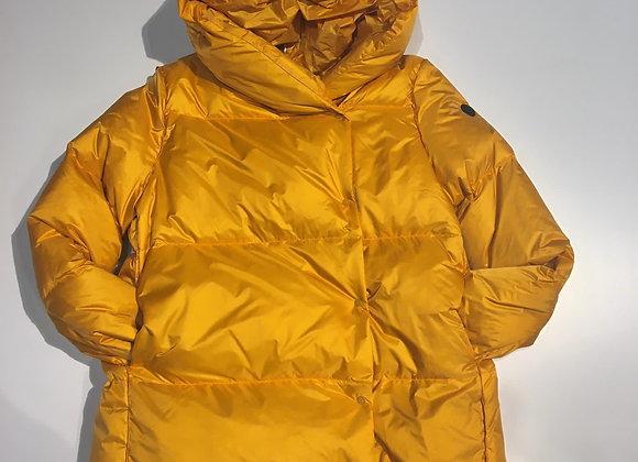 Piumino donna giallo in vera piuma collo a scialle Homeward