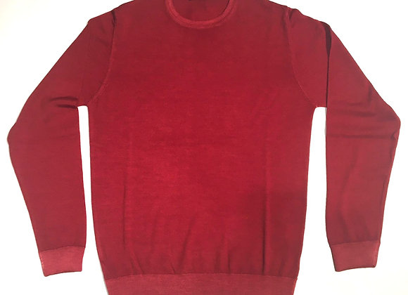 Pullover rosso100% merinos Wool & Co.
