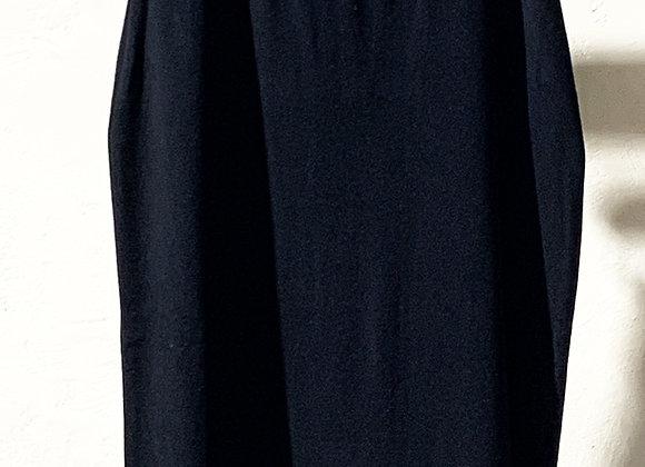 Gonna tubino longuette in maglia nera
