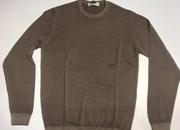 Pullover marron glacé 100% merinos Wool &Co.