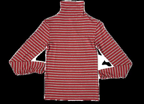 Dolcevita elasticizzato Jersey riga rossa