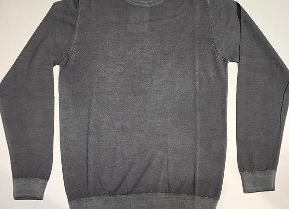 Pullover grigio delavé 100% merinos Wool &Co.