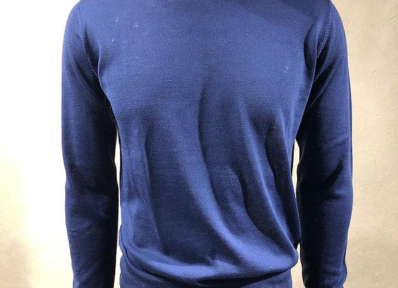 Girocollo in misto lana con toppe gomiti Become