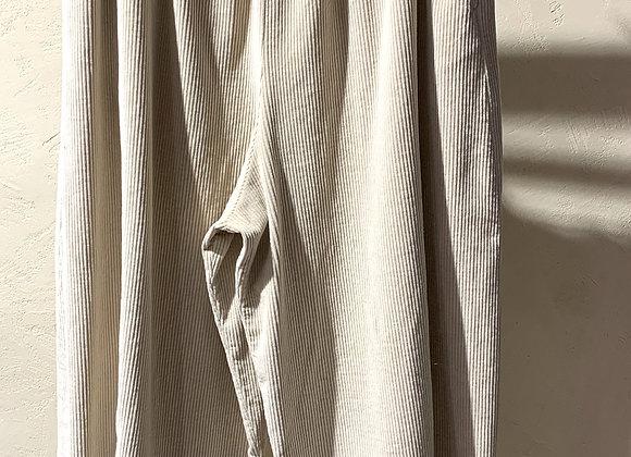 Pantaloni donna over velluto sabbia