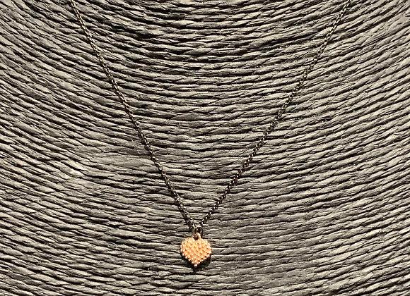 Collana in argento placcato oro con ciondolo cuore Versari Accessories