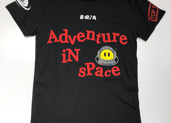 T-shirt uomo nera Adventure in space Berna