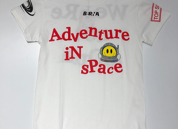 T-shirt uomo bianca Adventure in space Berna