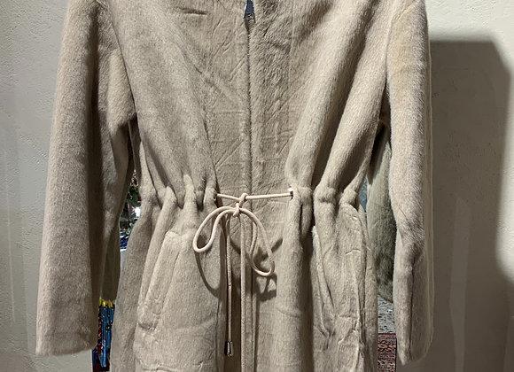 Eco pelliccia beige coulisse Rino & Pelle