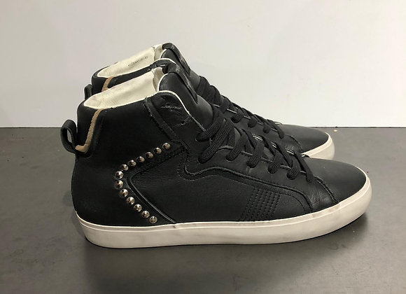 Sneakers alta pelle nera Crime London