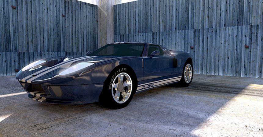 Modélisation 3D voiture rendus 3D