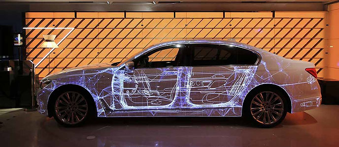 video Mapping voiture