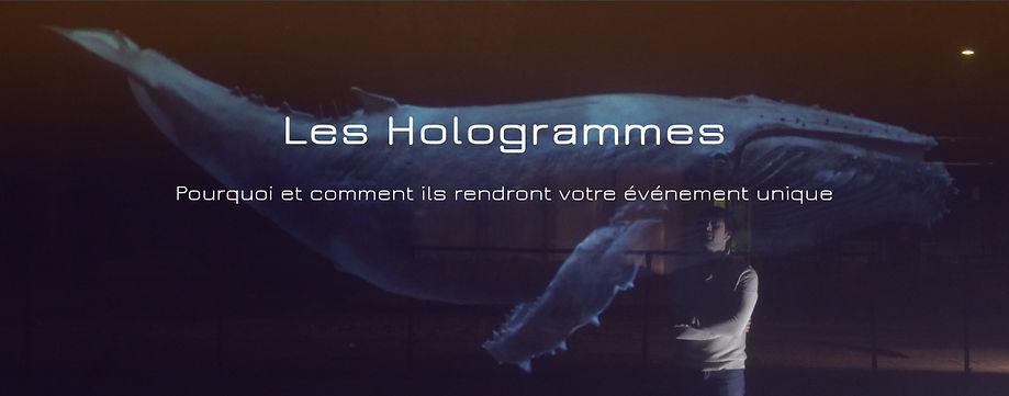 Hologrammes événement