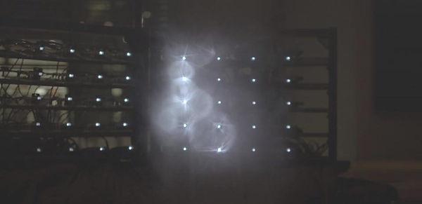 holograme fumée projection