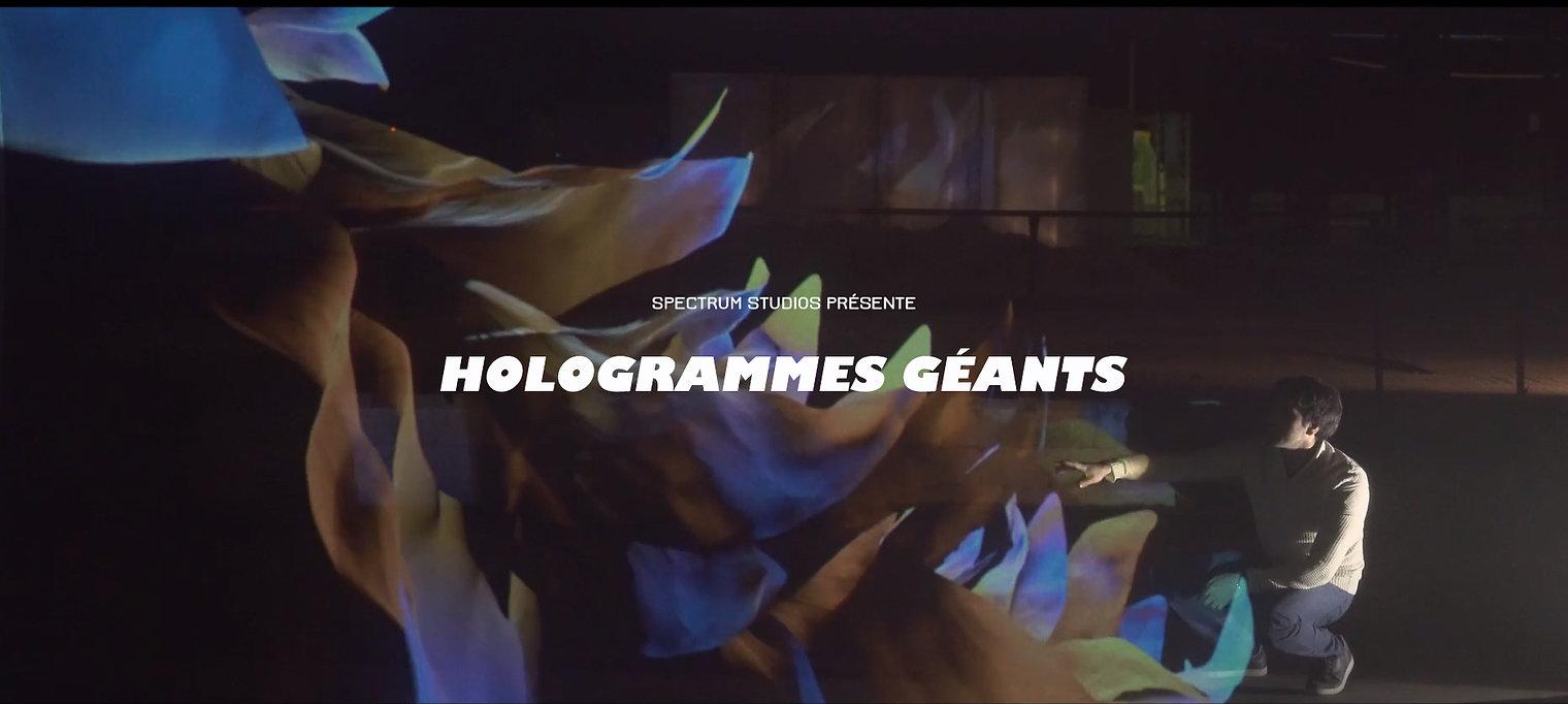 hologramme géant pour les entreprises