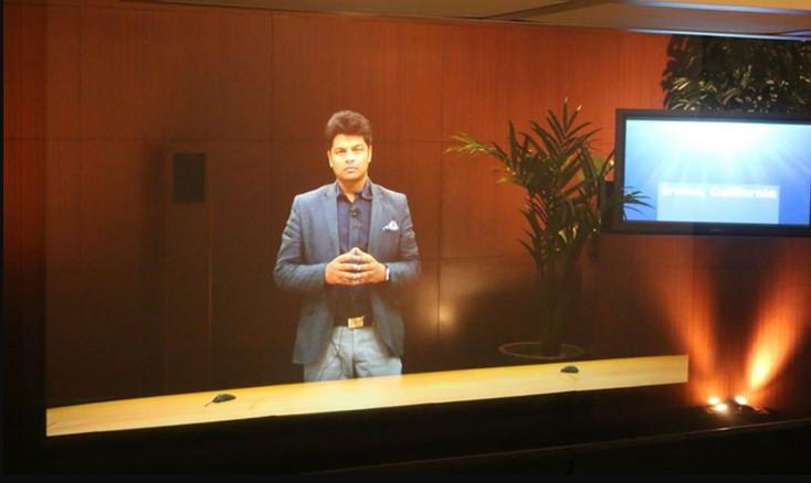 hologramme meeting événement