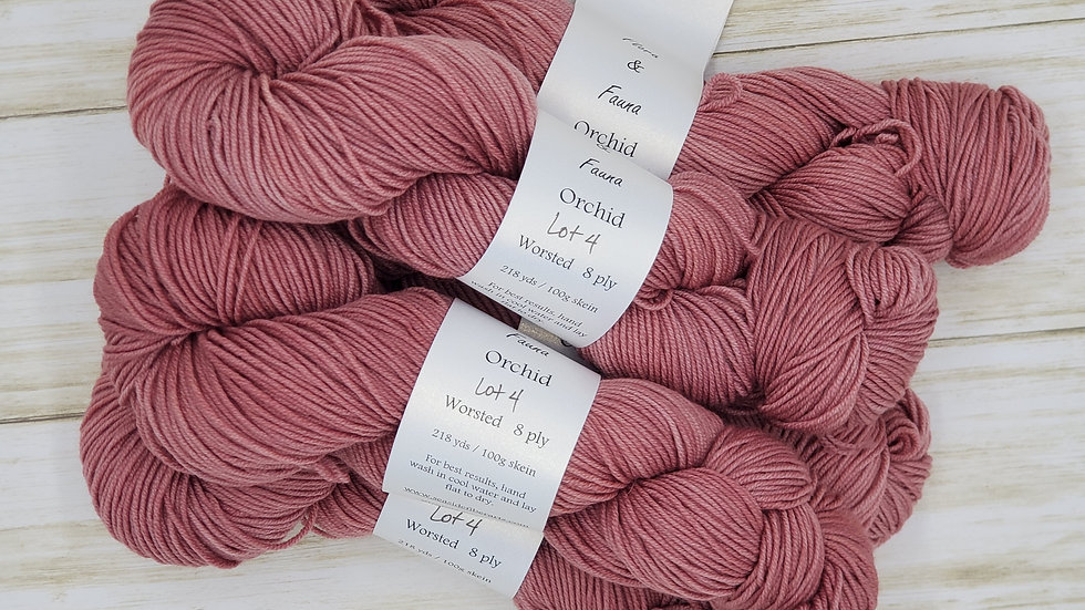 Orchid Worsted Weight 218 yards Lot 4