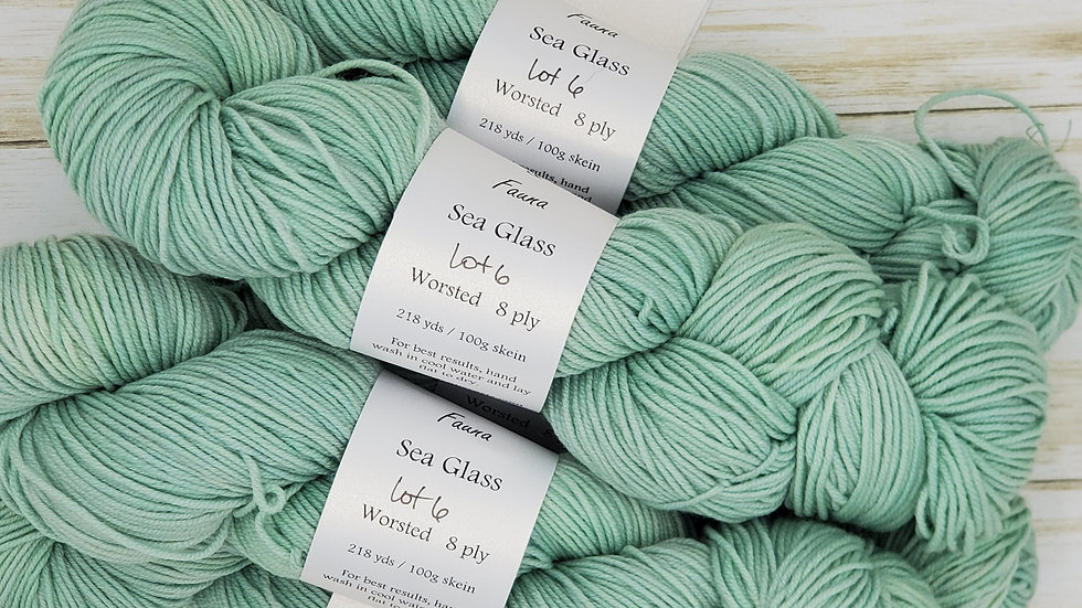 Sea Glass Worsted Weight 218 yards Lot 6