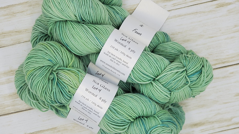 Sea Glass Worsted Weight 218 yards Lot 4