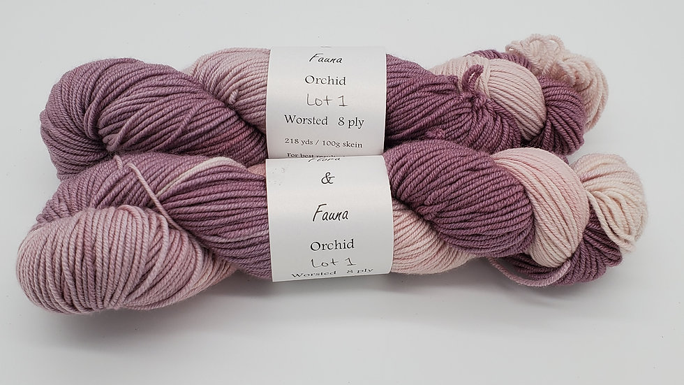 Orchid Worsted Weight Lot 1