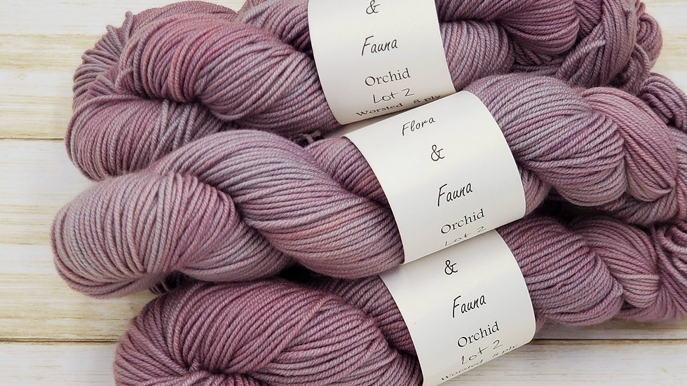 Orchid Worsted Weight 218 yards Lot 2