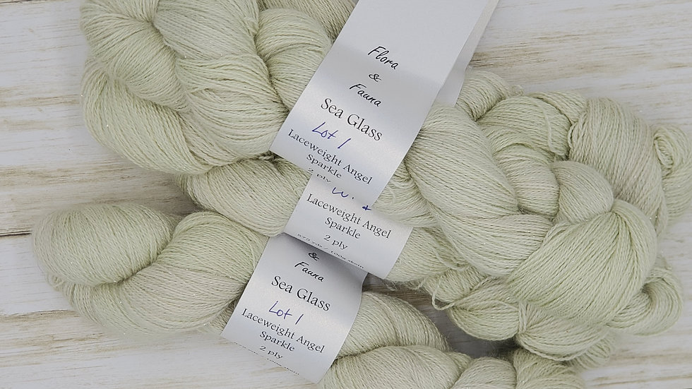 Laceweight Alpaca, Silk and Cashmere Sea Glass Lot 1
