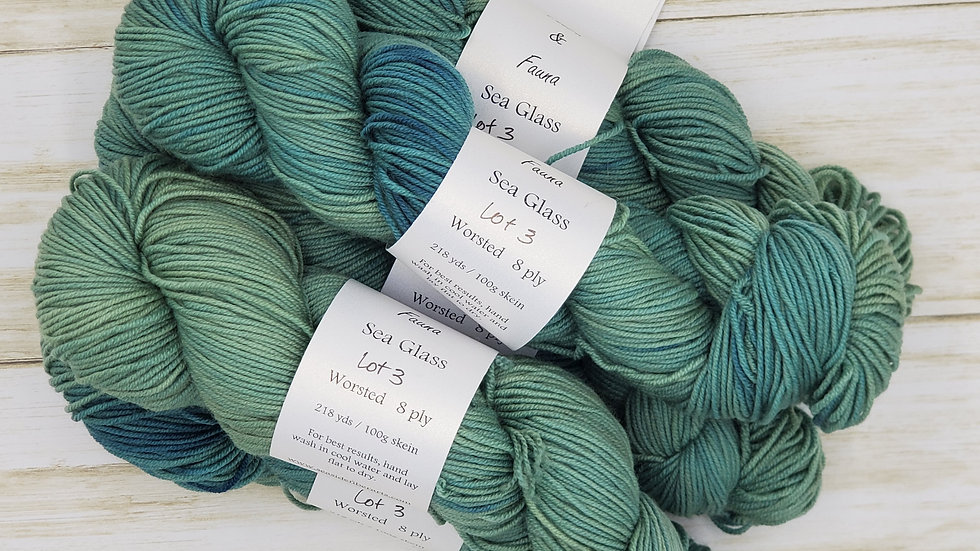 Sea Glass Worsted Weight 218 yards Lot 3