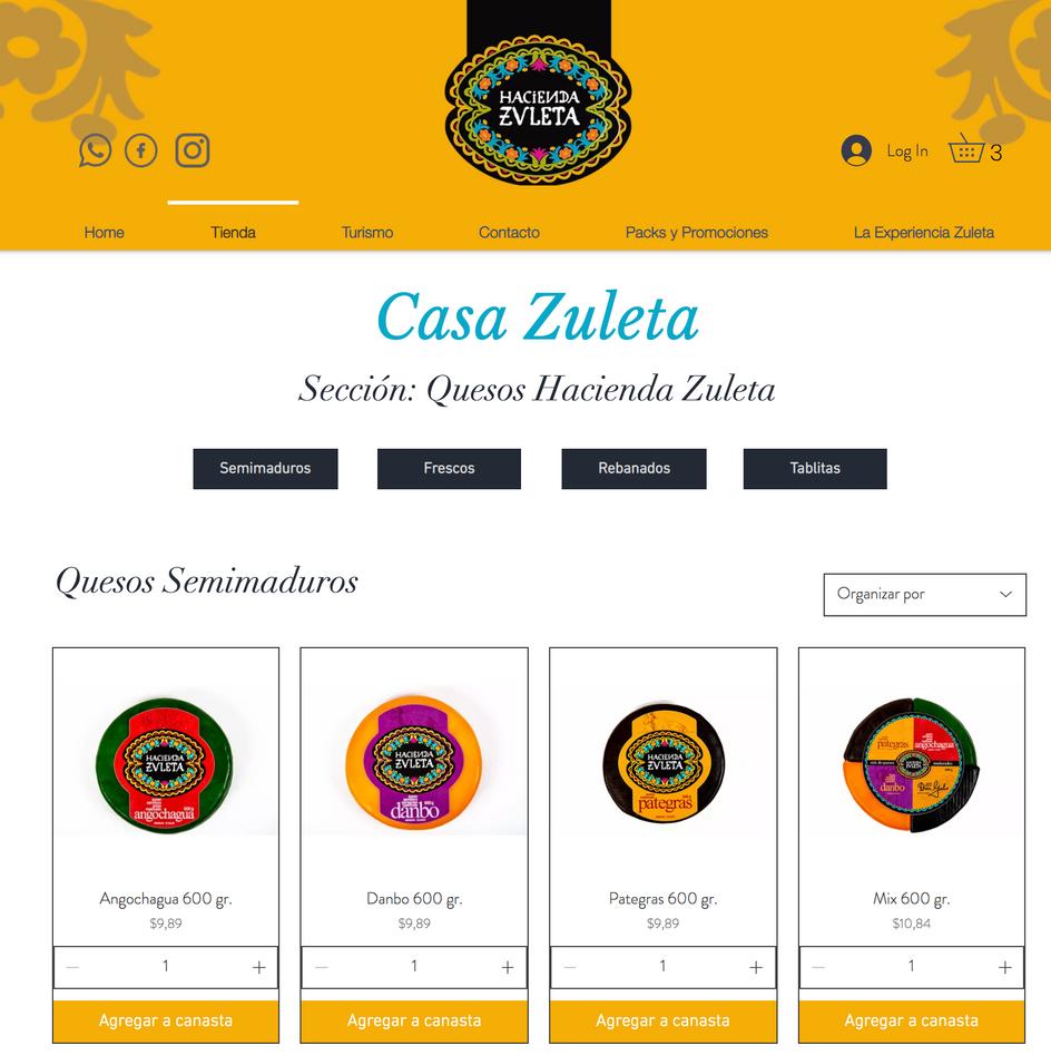WEB PRODUCTOS HACIENDA ZULETA