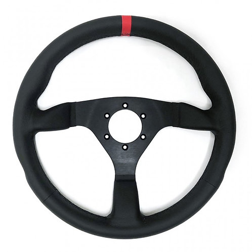 Racetech Flat Leather Wheel - 350mm