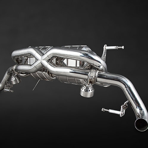 Capristo Audi R8 Post-Facelift V8 X-Pipe Exhaust System (Incl. Remote)