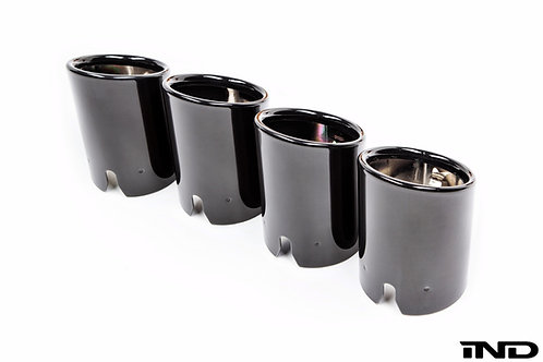 IND BMW F87 M2 BLACK CHROME EXHAUST TIPS