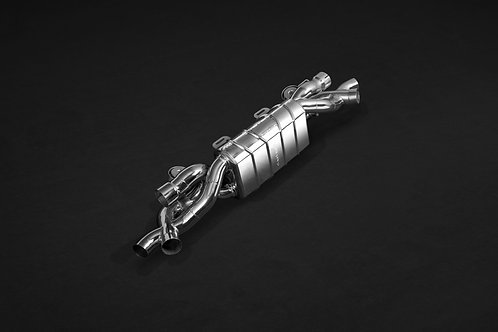 Porsche 991 and 991.2 Turbo/Turbo S – Valved Exhaust Muffler (with CES-3 Remote)