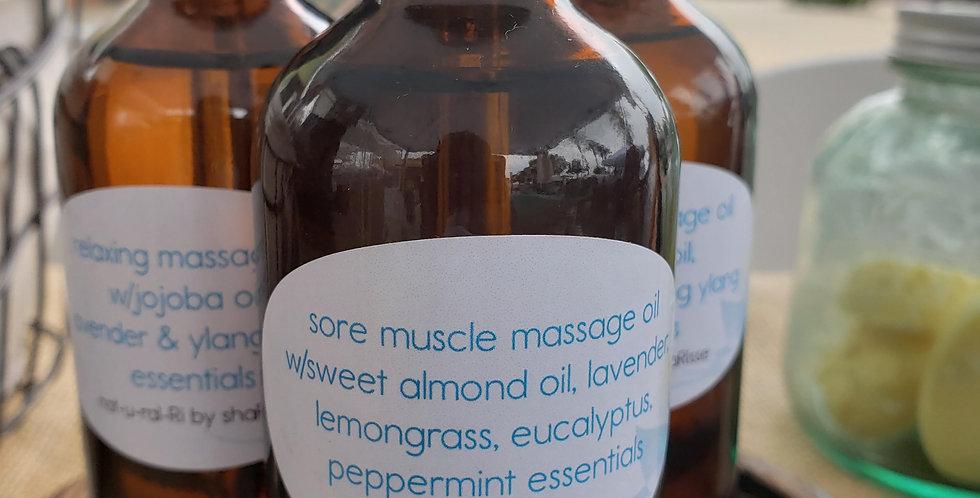 Sore Muscle Massage Oil