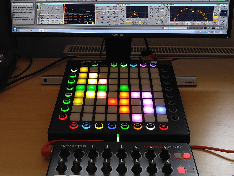 Ableton Live, Novation Launchpad Pro 7 Launch Control
