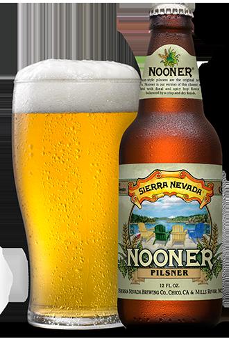 NOONER® PILSNER  A crisp, hoppy take on the original session beer.  Gather your friends, pack the ge