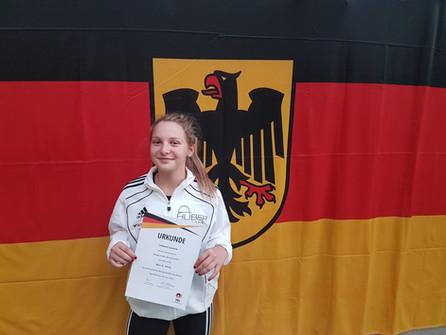Starker fünfter Platz bei Schüler-DM in Ingolstadt für Leonie Hilbert