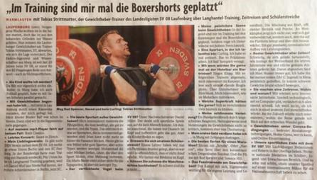 Interview mit sportlichem Leiter Tobias Strittmatter