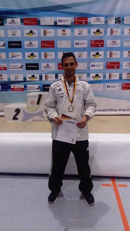 Andreas Albiez ist Deutscher Meister in der AK I