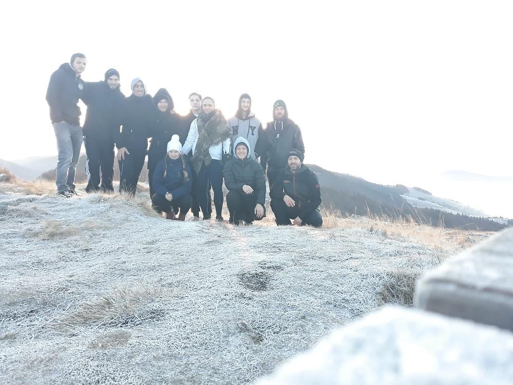 Mannschaft des SV08 auf dem Gipfel des Herzogenhorn