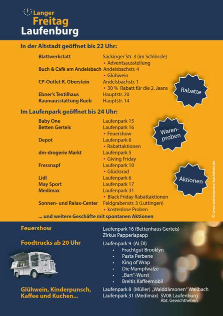 Teilnahme am Langen Freitag im Laufenpark am 23.11.18