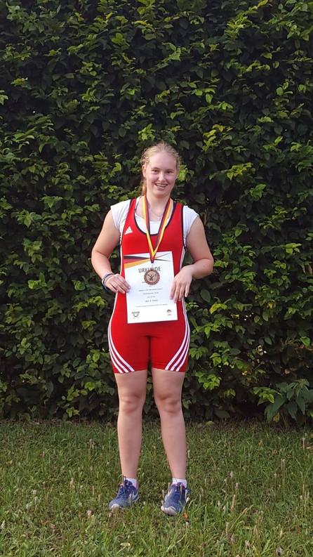 Treppchenplatz für Leonie Stöcklin bei den Deutschen Meisterschaften