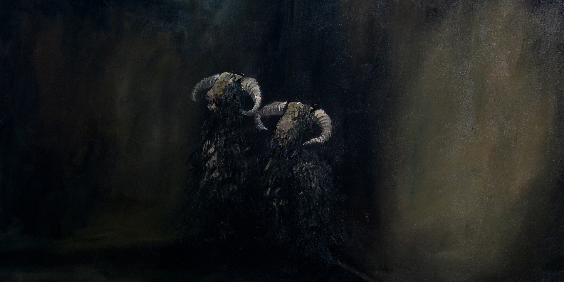 The Walla Goats Oil on Canvas 2014 DONATED