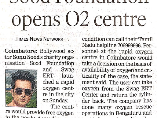 Sood Foundation open 02 centre