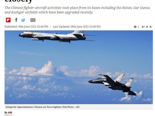 Dozens of Chinese Fighter Jets Fly Opposite Eastern Ladakh Border as India Watches Closely